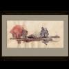 JEZIORO WOLSZTYŃSKIE  z serii szkice z Wolsztyna,akwarela